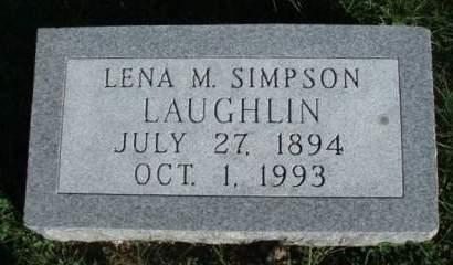 LAUGHLIN, LENA MAY - Madison County, Iowa | LENA MAY LAUGHLIN