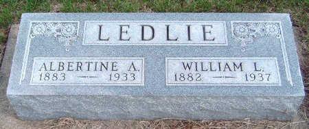 PICKWARD LEDLIE, ALBERTINE A. - Madison County, Iowa | ALBERTINE A. PICKWARD LEDLIE