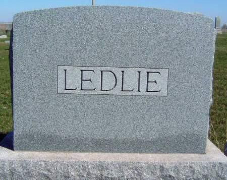 LEDLIE, FAMILY STONE - Madison County, Iowa | FAMILY STONE LEDLIE