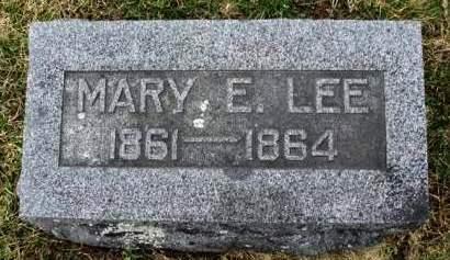 LEE, MARY E. - Madison County, Iowa   MARY E. LEE