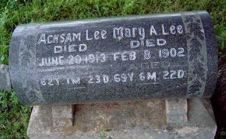 LEE, MARY ANN - Madison County, Iowa | MARY ANN LEE