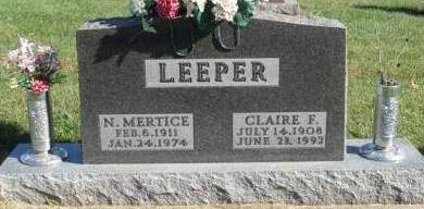 LEEPER, CLAIRE FRANK - Madison County, Iowa | CLAIRE FRANK LEEPER