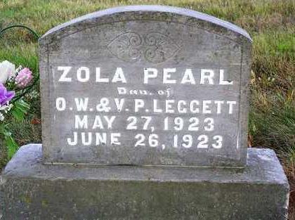 LEGGETT, ZOLA PEARL - Madison County, Iowa   ZOLA PEARL LEGGETT