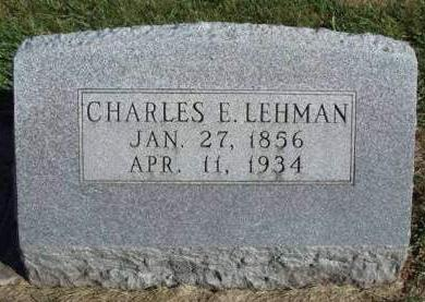 LEHMAN, CHARLES E. - Madison County, Iowa | CHARLES E. LEHMAN