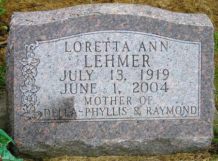 LEHMER, LORETTA ANN - Madison County, Iowa | LORETTA ANN LEHMER