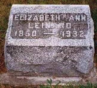 LEINARD, ELIZABETH ANN - Madison County, Iowa | ELIZABETH ANN LEINARD