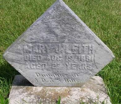 LEITH, MARY J. - Madison County, Iowa | MARY J. LEITH