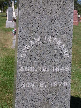 LEONARD, BYRAM - Madison County, Iowa   BYRAM LEONARD