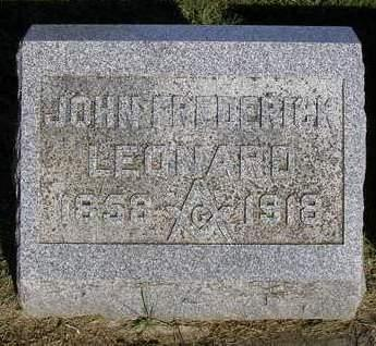 LEONARD, JOHN FREDRICK - Madison County, Iowa | JOHN FREDRICK LEONARD