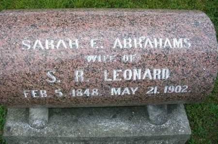 LEONARD, SARAH E. - Madison County, Iowa | SARAH E. LEONARD