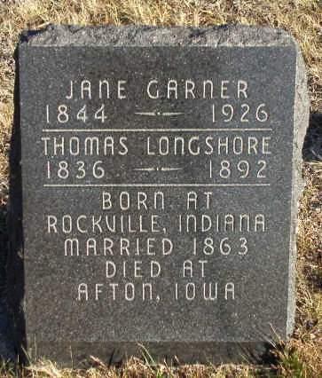 GARNER LONGSHORE, NANCY JANE - Madison County, Iowa | NANCY JANE GARNER LONGSHORE