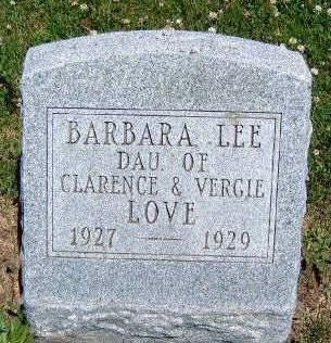 LOVE, BARBARA LEE - Madison County, Iowa   BARBARA LEE LOVE