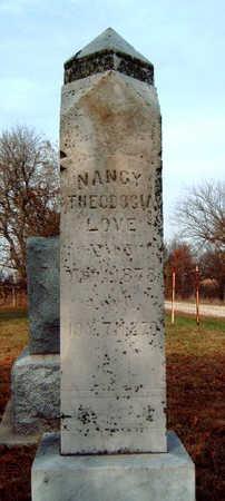 LOVE, NANCY THEODORIA - Madison County, Iowa   NANCY THEODORIA LOVE
