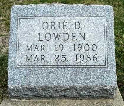 LOWDEN, ORIE DARLE - Madison County, Iowa | ORIE DARLE LOWDEN