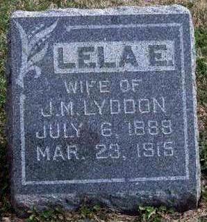 LYDDON, LELA ETTA - Madison County, Iowa   LELA ETTA LYDDON