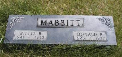 MABBITT, WILLIS ROYAL - Madison County, Iowa | WILLIS ROYAL MABBITT