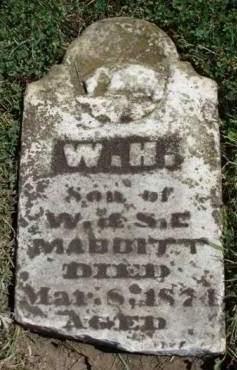 MABBITT, WILLIAM H. - Madison County, Iowa   WILLIAM H. MABBITT