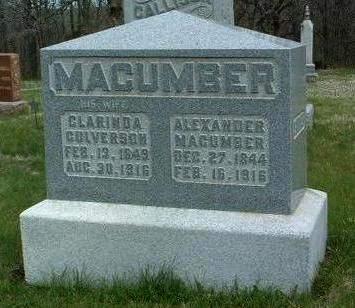 MACUMBER, CLARINDA - Madison County, Iowa   CLARINDA MACUMBER