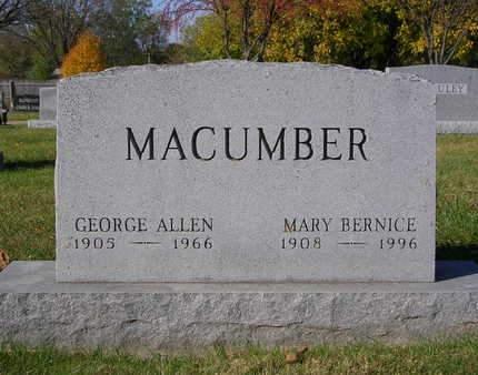 MACUMBER, MARY BERNICE - Madison County, Iowa | MARY BERNICE MACUMBER