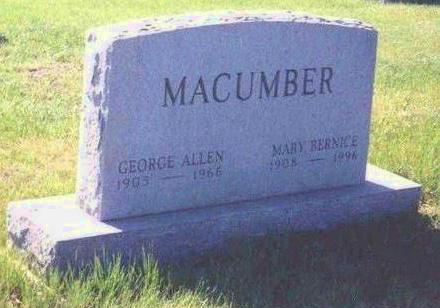 WILKINSON MACUMBER, MARY BERNICE - Madison County, Iowa   MARY BERNICE WILKINSON MACUMBER
