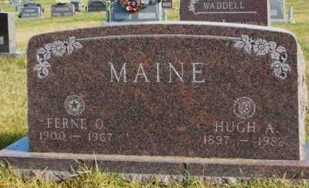 MAINE, HUGH AMOS - Madison County, Iowa   HUGH AMOS MAINE