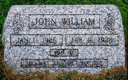 MALONE, JOHN WILLIAM - Madison County, Iowa | JOHN WILLIAM MALONE
