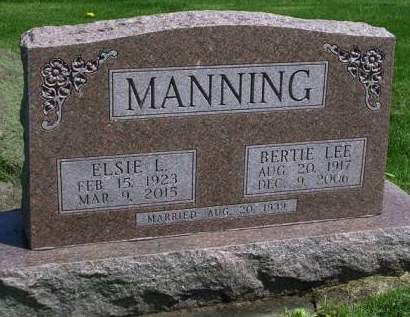 MANNING, ELSIE LOUISE - Madison County, Iowa | ELSIE LOUISE MANNING