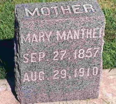 MANTHEI, MARY - Madison County, Iowa   MARY MANTHEI