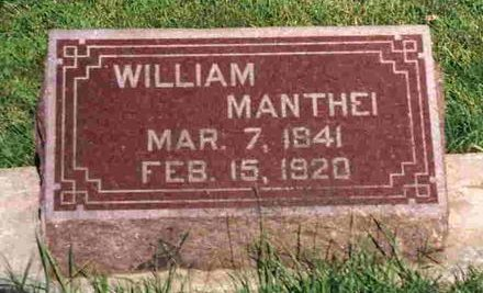MANTHEI, WILLIAM - Madison County, Iowa | WILLIAM MANTHEI