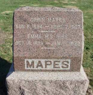 MAPES, ORRIN - Madison County, Iowa | ORRIN MAPES