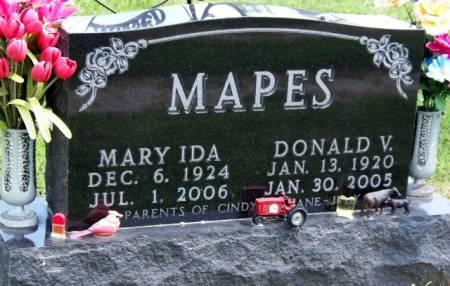 MAPES, DONALD V. - Madison County, Iowa | DONALD V. MAPES