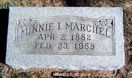MARCHEL, MINNIE I. - Madison County, Iowa   MINNIE I. MARCHEL