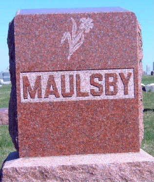 MAULSBY, FAMILY STONE - Madison County, Iowa | FAMILY STONE MAULSBY