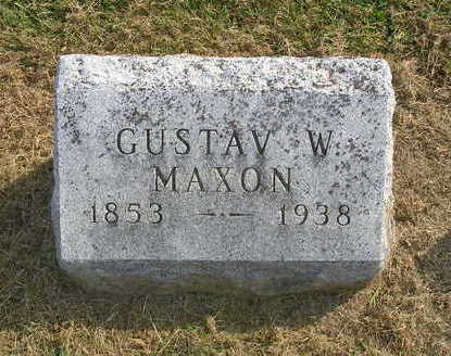 MAXON, GUSTAV W. - Madison County, Iowa | GUSTAV W. MAXON