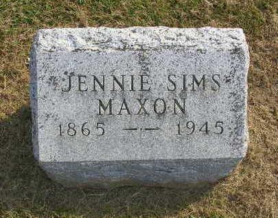 MAXON, JENNIE B. - Madison County, Iowa | JENNIE B. MAXON