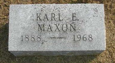 MAXON, KARL E. - Madison County, Iowa | KARL E. MAXON