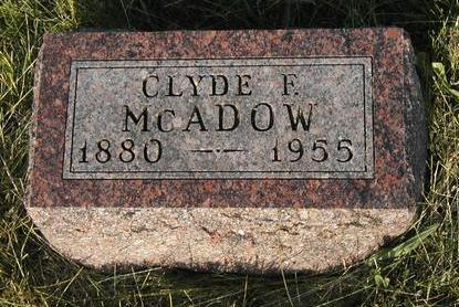 MCADOW, CLYDE F. - Madison County, Iowa | CLYDE F. MCADOW