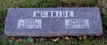 MCBRIDE, CLAUDE BARNETT - Madison County, Iowa   CLAUDE BARNETT MCBRIDE
