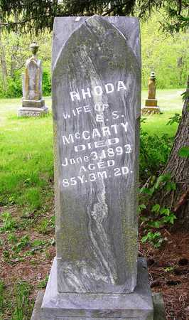 MCCARTY, RHODA - Madison County, Iowa   RHODA MCCARTY