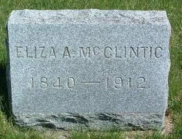 MCCLINTIC, ELIZA ANN - Madison County, Iowa | ELIZA ANN MCCLINTIC