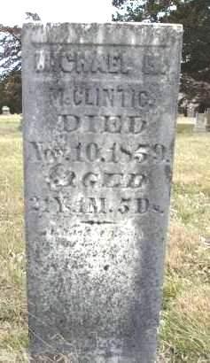 MCCLINTIC, MICHAEL M. - Madison County, Iowa   MICHAEL M. MCCLINTIC