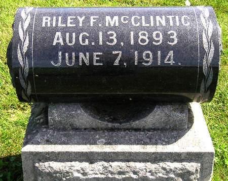 MCCLINTIC, RILEY F. - Madison County, Iowa | RILEY F. MCCLINTIC