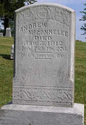 MCCONNELEE, ANDREW JACKSON - Madison County, Iowa | ANDREW JACKSON MCCONNELEE