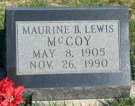 MCCOY, MAURINE B. - Madison County, Iowa   MAURINE B. MCCOY