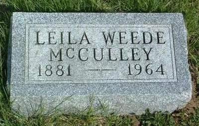 MCCULLEY, LEILA ADA - Madison County, Iowa | LEILA ADA MCCULLEY