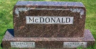 MCDONALD, CYRUS BURT - Madison County, Iowa   CYRUS BURT MCDONALD