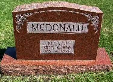 MCDONALD, ELLA J. - Madison County, Iowa | ELLA J. MCDONALD