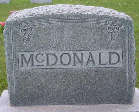 MCDONALD, FAMILY STONE - Madison County, Iowa | FAMILY STONE MCDONALD