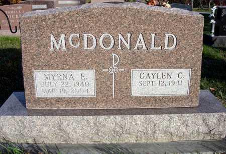 MCDONALD, MYRNA E. - Madison County, Iowa | MYRNA E. MCDONALD