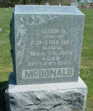 MCDONALD, HUGH DELOS - Madison County, Iowa | HUGH DELOS MCDONALD